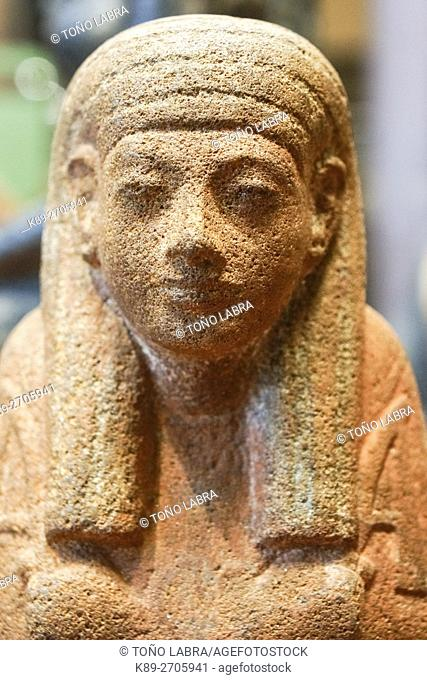 Pharaonic personage. Egyptian Pharaonic collection. Louvre Museum. Paris. France