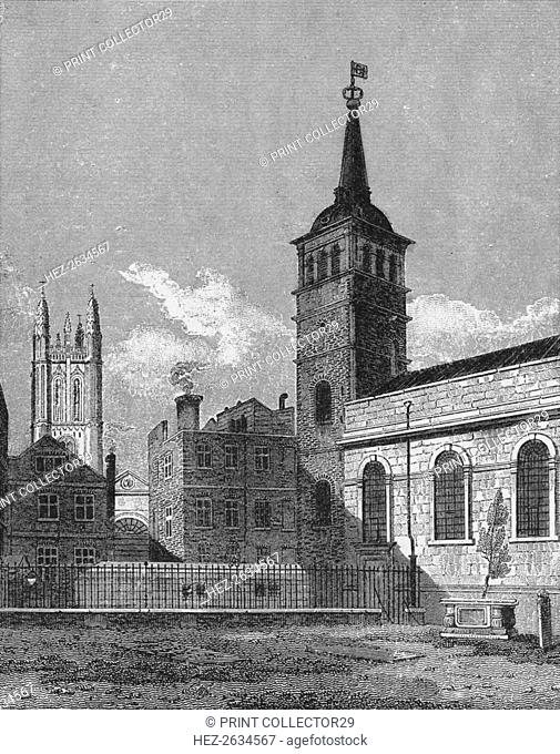 St Peter's Church, Cornhill, City of London, 1811 (1911). Artist: George Sidney Shepherd