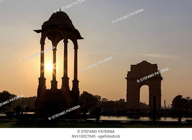 The India Gate, All India War Memorial, Triumphal Arch, New Delhi, Delhi, India