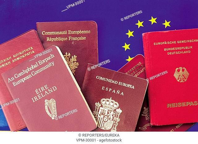 European passport;passeport europeen de l'Union europeenne Reporters / EUREKA
