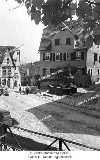 Ein Ausflug nach Marbach, Deutsches Reich 1930er Jahre. A trip to Marbach, Germany 1930s