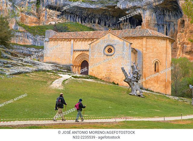 San Bartolome Hermitage, Templar Church, Cañón de Río Lobos gorge, Rio Lobos Natural Park, Ucero, Soria, Spain
