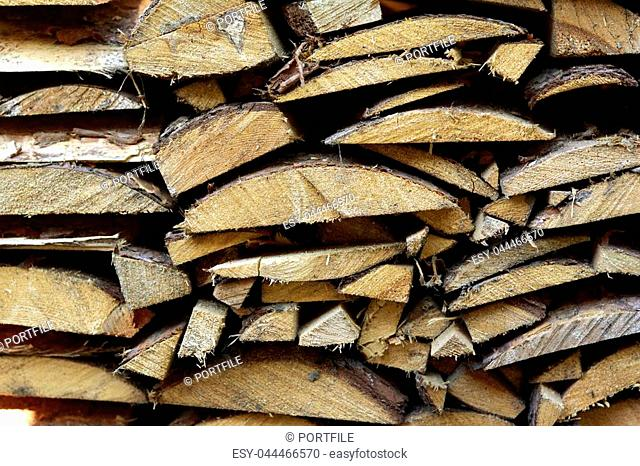 texture of felled wooden wood, sawdust close-up