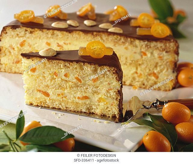 Exotic kumquat cake