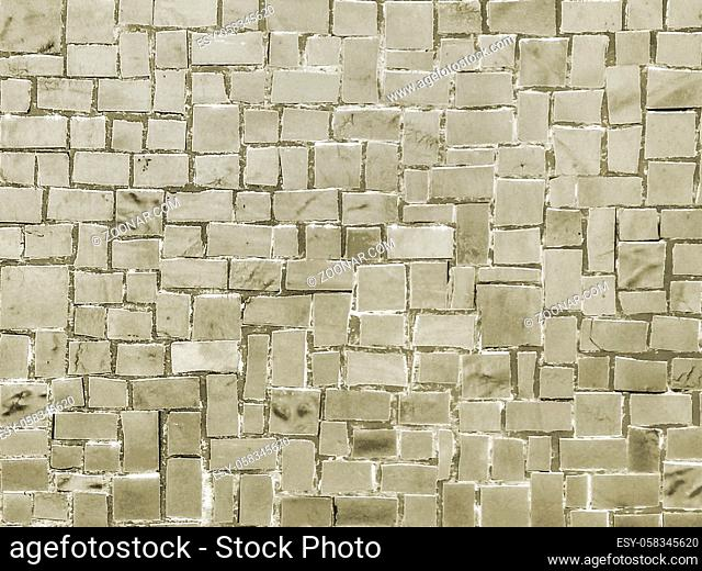 Mosaic abstract geometric seamless pattern background design in sepia colors