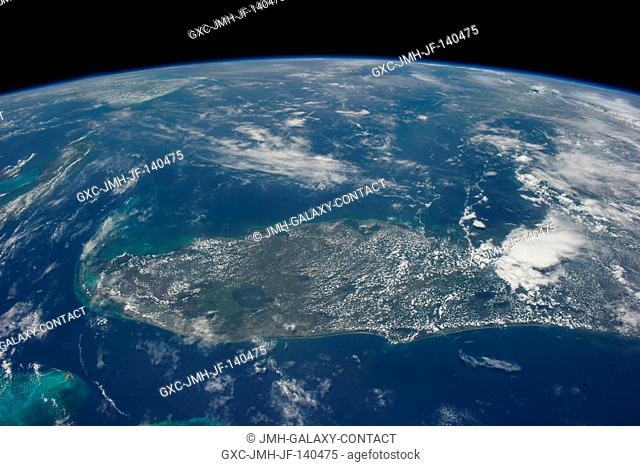 One of the Expedition 40 crew members aboard the Earth-orbiting International Space Station photographed this image featuring the peninsular portion of the...