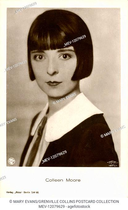 Colleen Moore (1899-1988) - American Movie star, one of the most fashionable of the era and helped popularize the Dutchboy bobbed haircut
