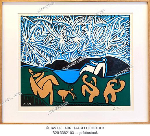 """""""Bacchanale avec chevreau et spectateur"""", 1959, Pablo Picasso, Picasso Museum, Paris, France, Europe"""