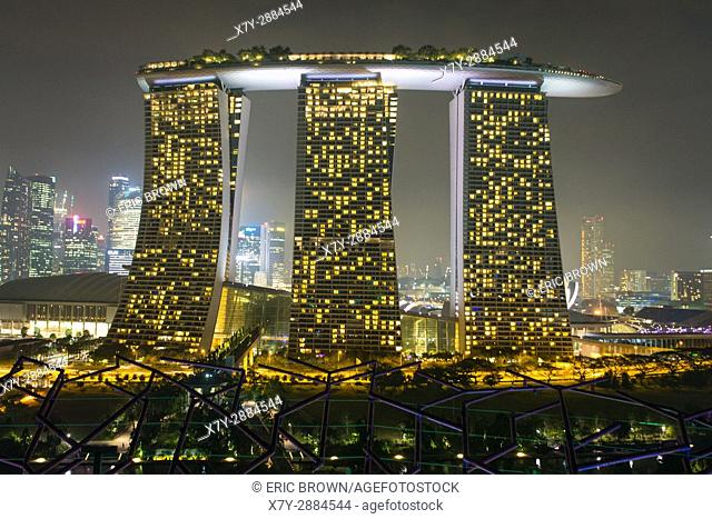 Marina Bay Sands hotel at night, Singapore