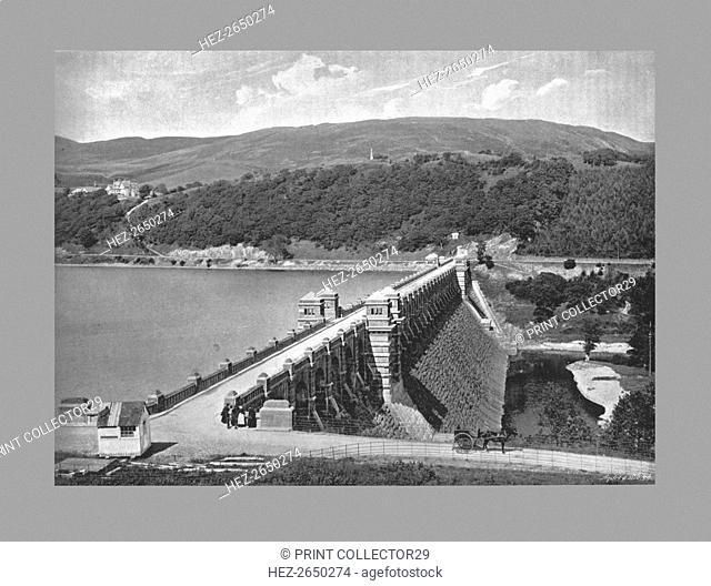 The Dam, Lake Vyrnmy, c1900. Artist: Valentine & Sons