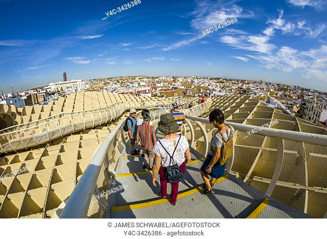 Mettopol Parasol or Incarnacionâ. . s Mushrooms a wooden structure in La Encarnacion square in Seville Spain