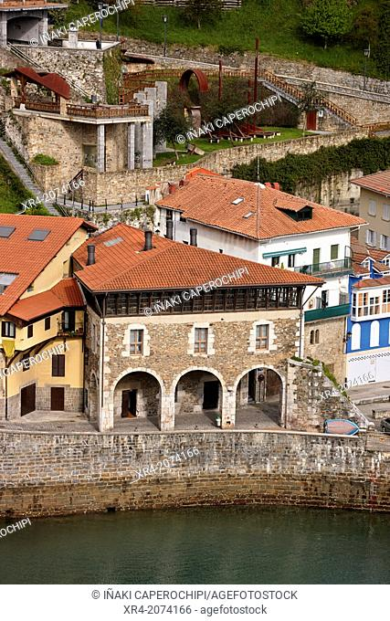 Old town, Mutriku, Gipuzkoa, Basque Country, Spain