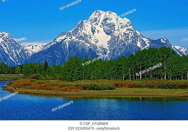 Grand Tetons Mt Moran Jenny Lake