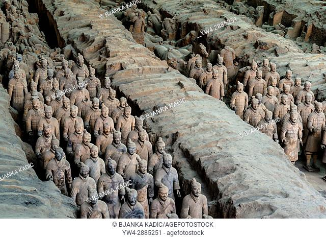 Army of Terracotta Warriors, 2000 years old discovered in 1974, Xi'an, Shaanxi province, China