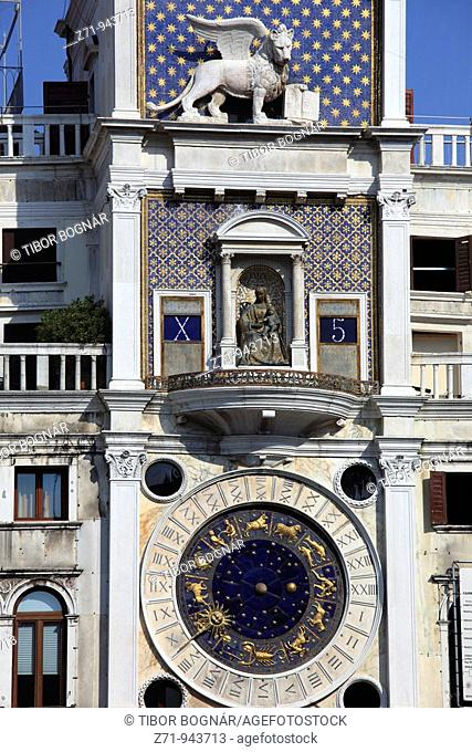 Italy, Venice, Clock Tower, Torre dell Orologio