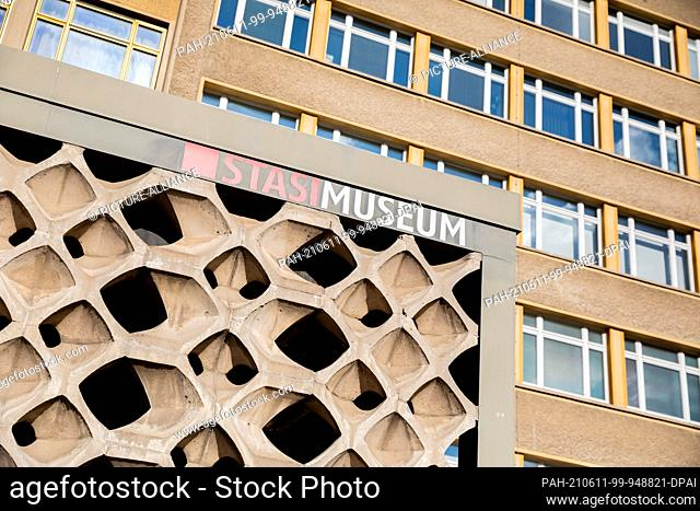 """09 June 2021, Berlin: """"""""House 1"""""""", former official residence of the minister and today's Stasi Museum. On 17 June, the Federal Commissioner for the Stasi files"""