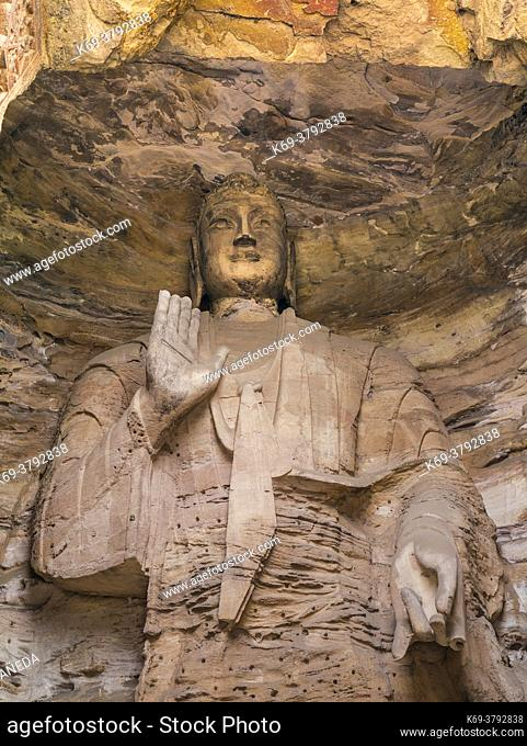 The Yungang Grottoes (Wuzhoushan Grottoes in ancient time) are ancient Chinese Buddhist temple grottoes near the city of Datong in the province of Shanxi
