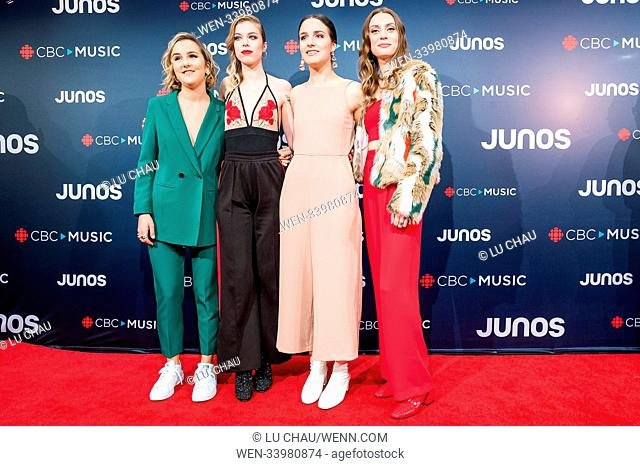 2018 JUNO Awards, held at the Rogers Arena in Vancouver, Canada. Featuring: The Beaches Where: Vancouver, British Columbia