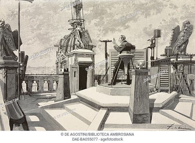 Observatory of Tour Saint-Jacques, Paris, France, illustration from L'Illustration, No 2659, February 10, 1894. DeA / Veneranda Biblioteca Ambrosiana, Milan