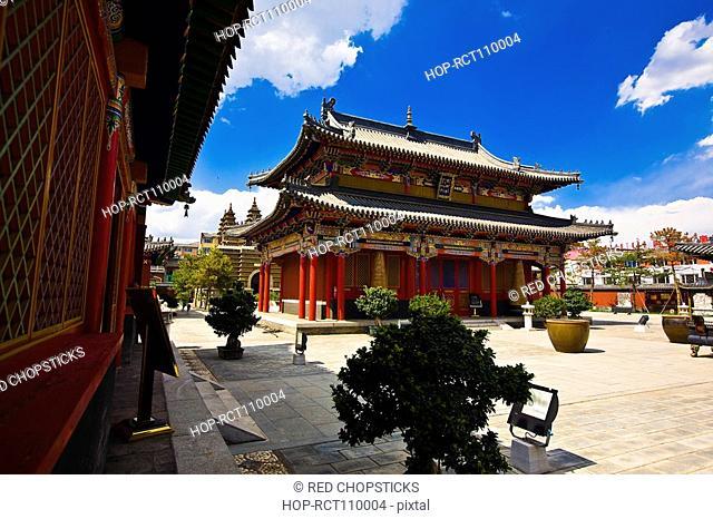 Low angle view of a pagoda, Five Pagoda Temple, Hohhot, Inner Mongolia, China