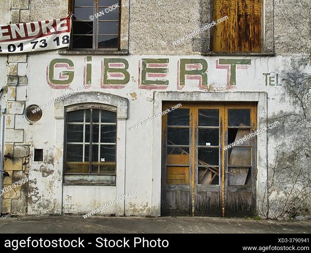 former furniture maker, abandoned building, Cancon, Lot-et-Garonne Department, Nouvelle-Aquitaine, France