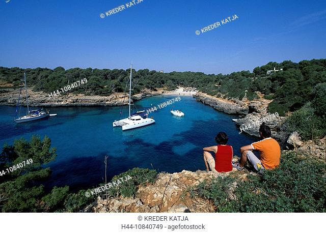 Spain, Europe, Cala Sa Nau, Majorca, Balearic Islands, Europe, Mediterranean Sea, coast, island, Majorca, bay, Cala Sa