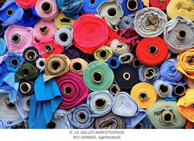 Textile.The words fabric and cloth are used in textile assembly trades (such as tailoring and dressmaking) as synonyms for textile
