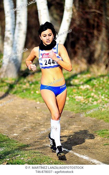Cross-country running. Madrid, Spain