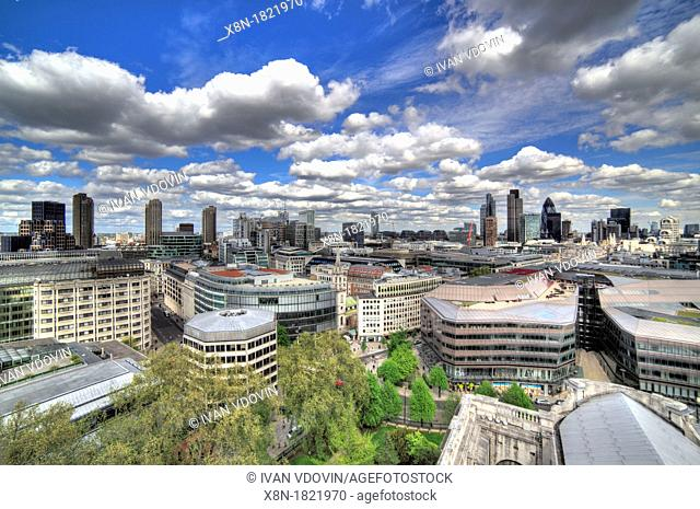 View of London City from St  Paul's Cathedral, London, UK, London, UK