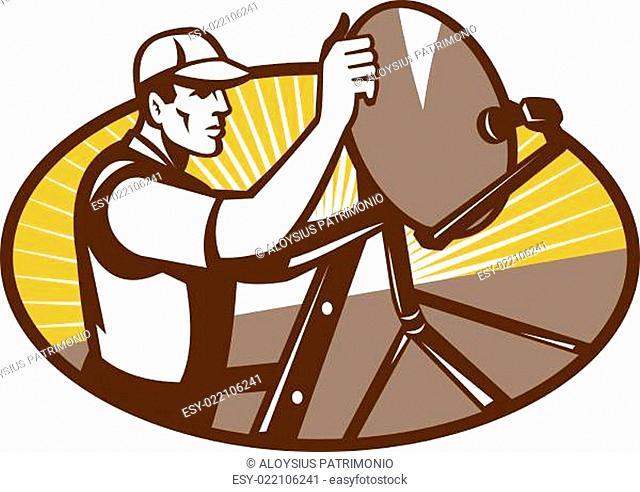 Satellite Installation Technician Worker