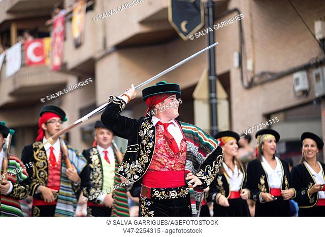 Participants of the Moors and Christians, Ontinyent, Valencia, Spain, Europe