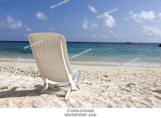 Maledives, Gan, Chair on beach
