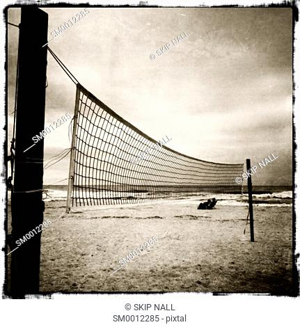 Volley ball nets on a beach in Florida