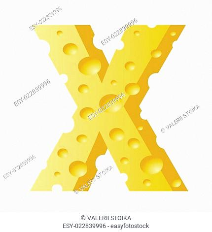 cheese letter X