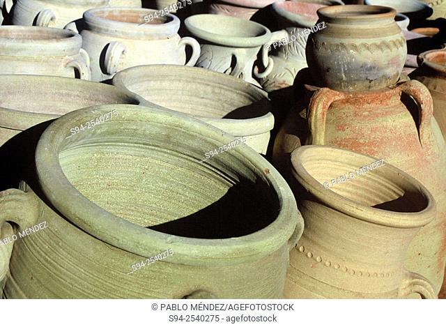 Detail of a jars in Djerba island, Tunisia