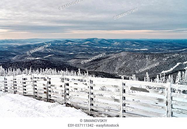Ski resort Sheregesh, Tashtagol district, Kemerovo region, Russia