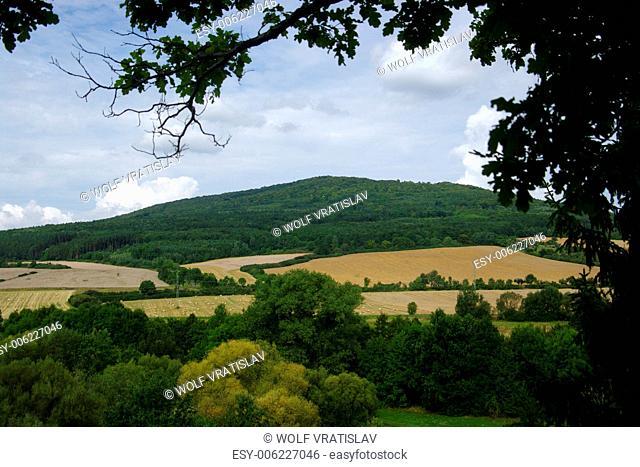 View of Belec Hill near Svihov, Plzen Region, the Southwestern Bohemia, Czech Republic