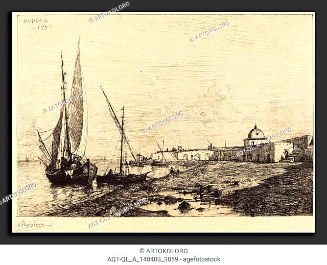 Adolphe Appian (French, 1818 - 1898), Port of San Remo, 1878, etching in black