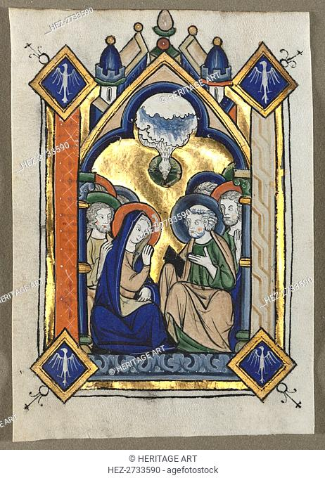 Leaf Excised from a Psalter: The Pentecost, c. 1260. Creator: Unknown