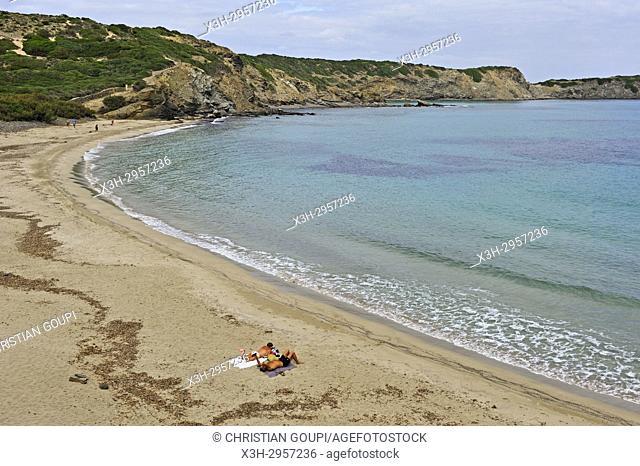 Cala Tortuga beach, s'Albufera des Grau Natural Park, Menorca, Balearic Islands, Spain, Europe
