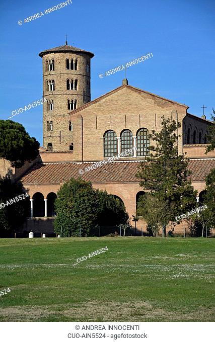 Basilica of Sant' Apollinare in Classe , 6th century, Ravenna, Emilia Romagna, Italy, Europe