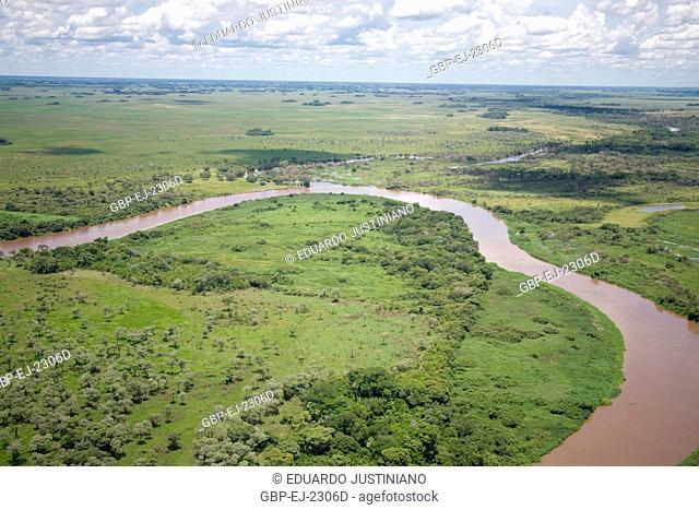 Miranda River, Confluence with Aquidauana, Corumbá, Mato Grosso do Sul, Brazil