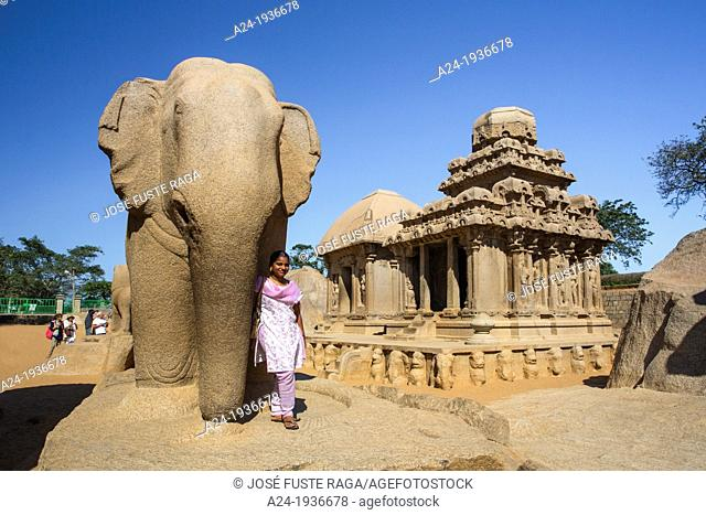 India , Tamiol Nadu State , Mamallapuram City, Five Rathas