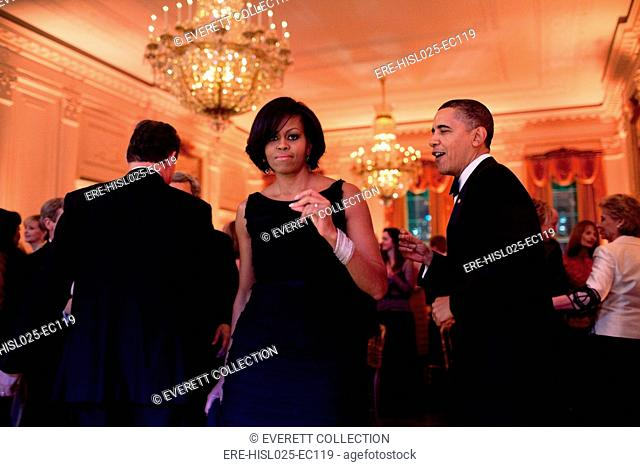 President and Michelle Obama dance to the music of Harry Connick Jr. and the Big Band during the Governors Ball at the White House