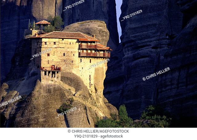 Perched Monastery of Saint Nicholas Anapausas Meteora Thessaly Greece