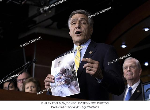 Representative Lou Barletta, Republican of Pennsylvania, speaks during a post Republican Caucus meeting press conference on Capitol Hill in Washington
