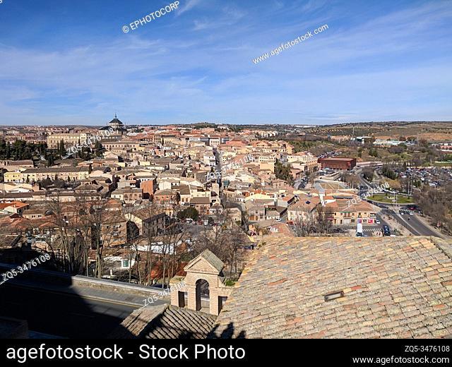 Aerial view of Toledo skyline, Spain