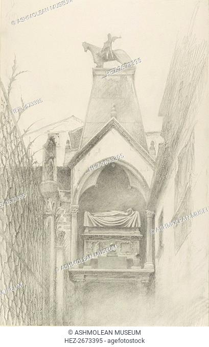 Study of the Tomb of Can Grande della Scala at Verona, May-August 1869. Artist: John Ruskin