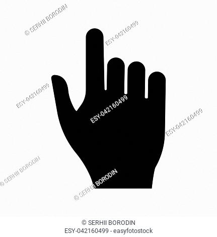 Pointing hand it is black color icon