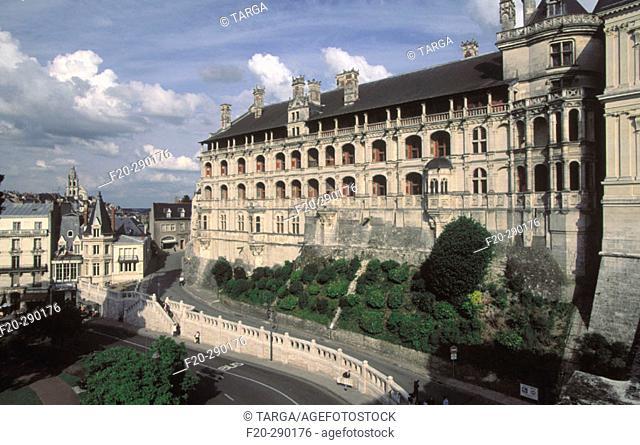 Château de Blois. Façade des Loges. Val-de-Loire. Loir-et-Cher, France